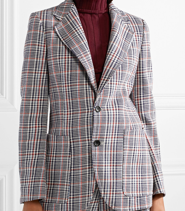 Albert Checked Cotton-tweed Blazer