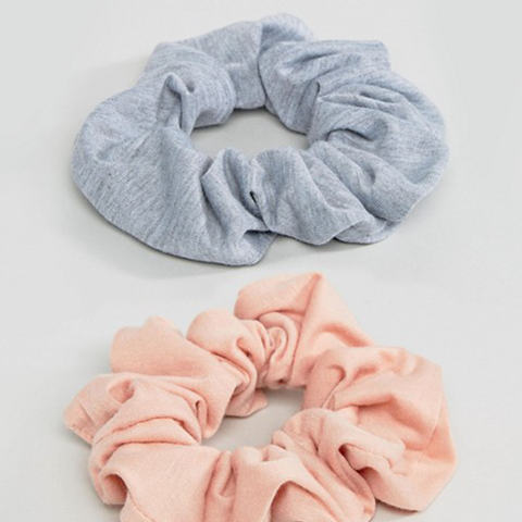 Pack of 2 Large Jersey Hair Scrunchies