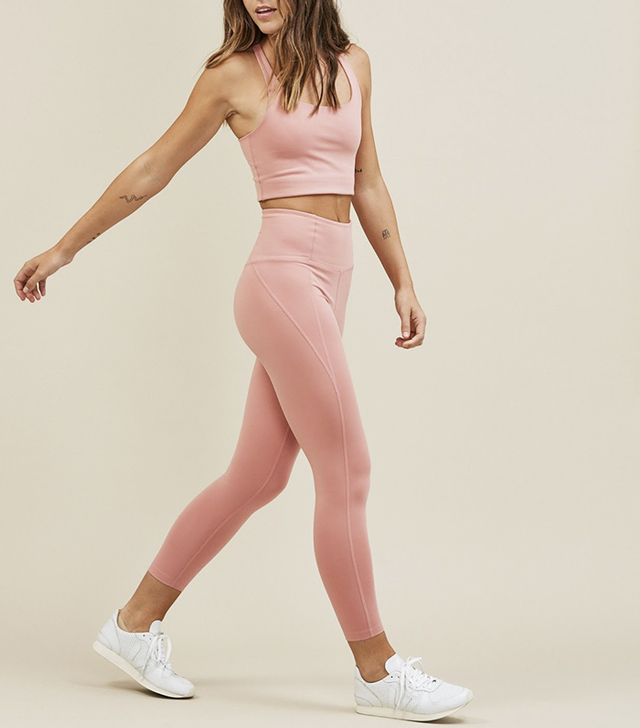Girlfriend Collective Dusty Rose Girlfriend High-Rise 3/4 Leggings