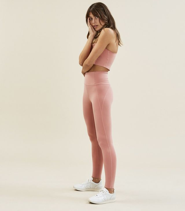 Girlfriend Collective Dusty Rose Girlfriend High-Rise Leggings