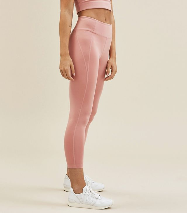 Girlfriend Collective Dusty Rose Girlfriend Mid-Rise 3/4 Leggings