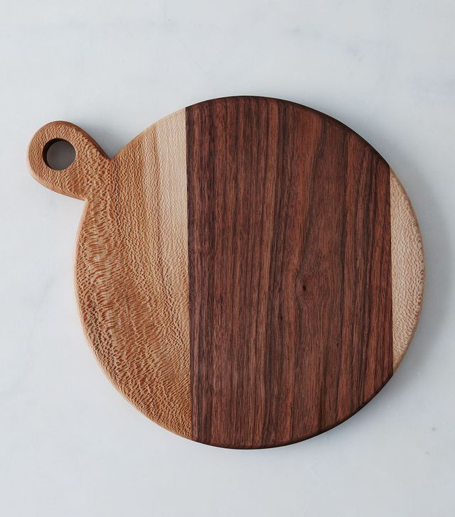 Bicyclette Round Walnut and Sycamore Board