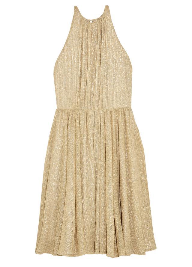 Metallic Lurex Mini Dress