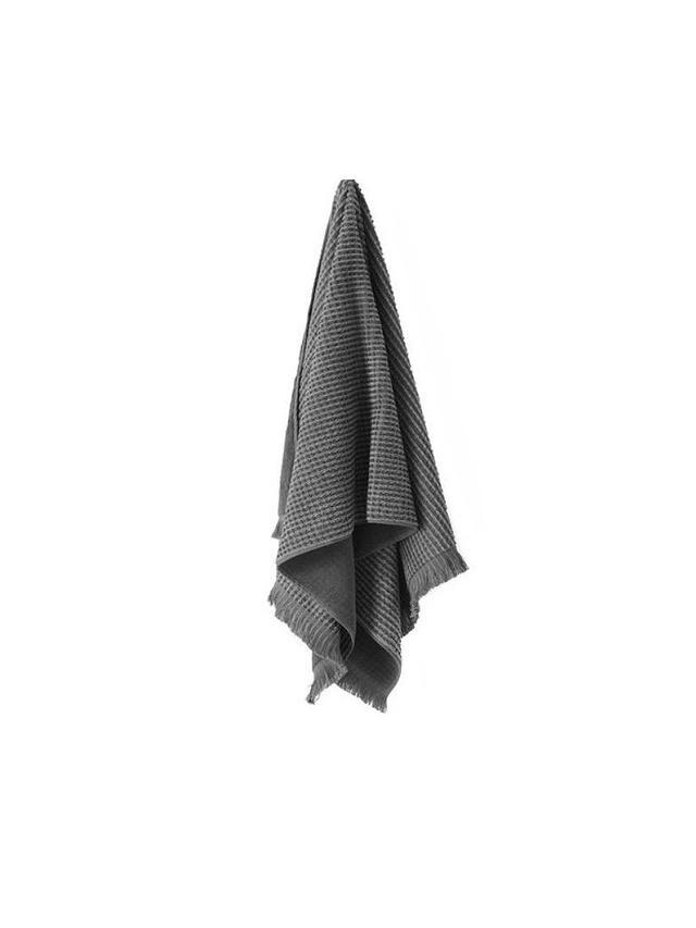 Aura by Tracie Ellis Smoke Waffle Bathroom Towel