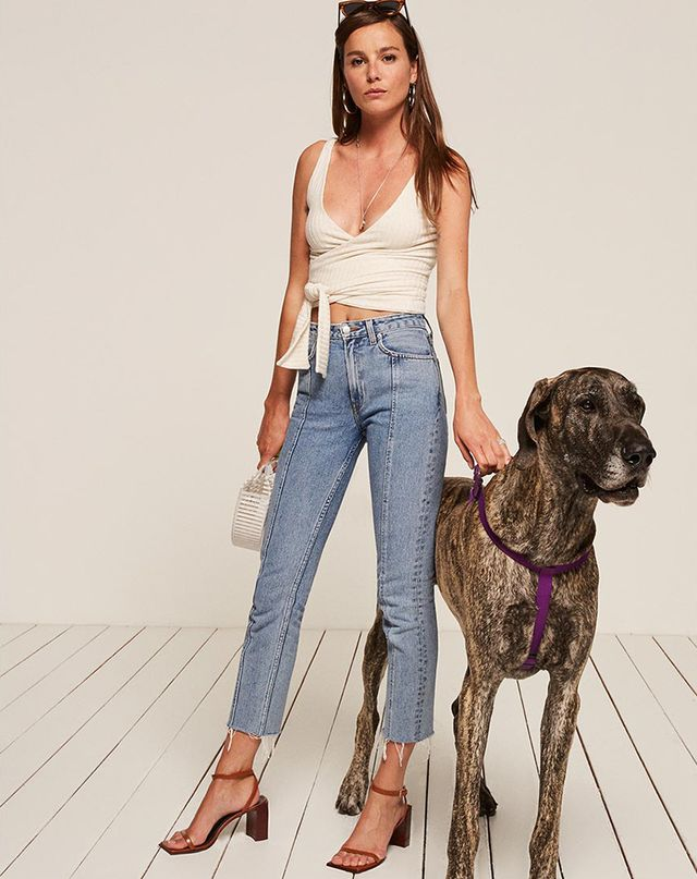 The Reformation Petites Seamed Jean