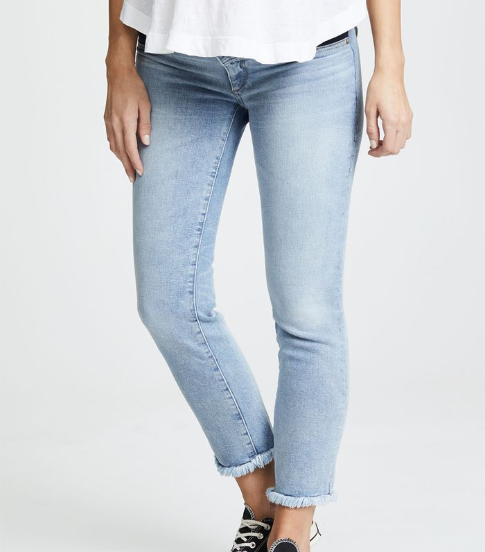 510de2e14c8d2 These Are the Best Petite Maternity Jeans | Who What Wear