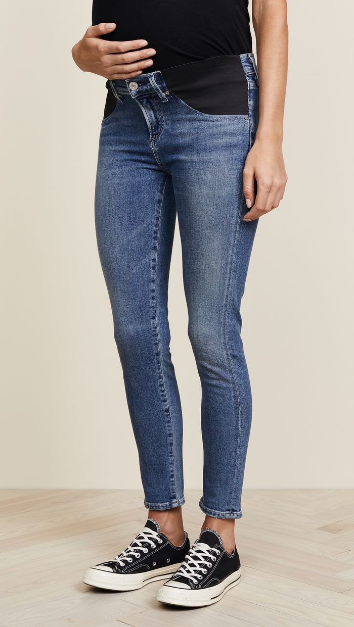 728b077be6068 These Are the Best Petite Maternity Jeans | Who What Wear