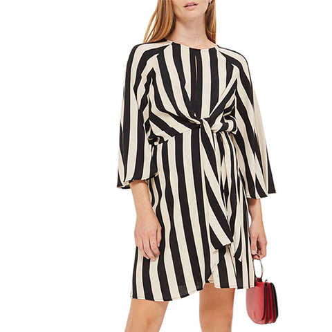 Humbug Stripe Knot Maternity Dress