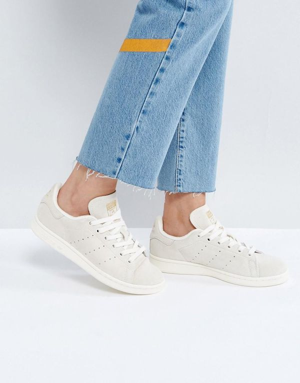 Off White Suede Stan Smith Sneakers