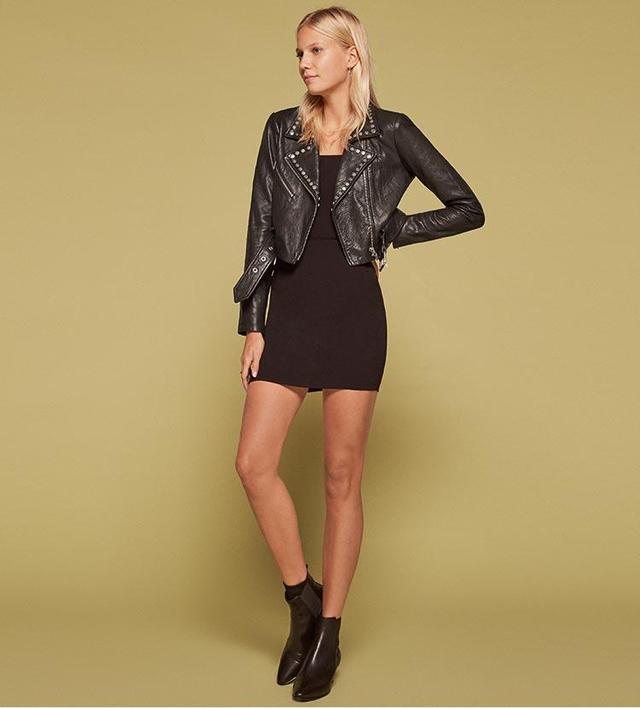 Veda Studded Leather Jacket