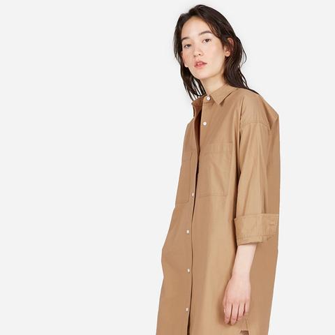Cotton Two-Pocket Shirt Dress