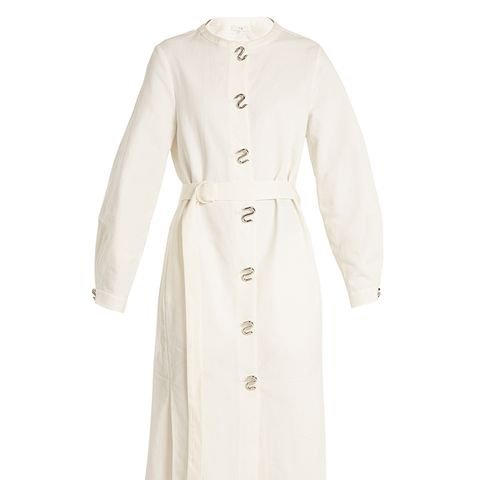 Chassis Lantern-Sleeved Belted Shirtdress