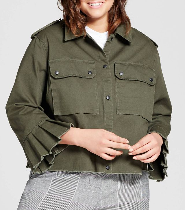 Who What Wear Collection Bell Sleeve Military Jacket