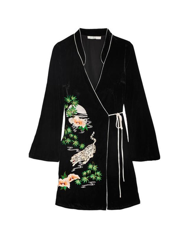 What to Wear When the Wedding Dress Code Is Cocktail Rixo London Iris Velvet Wrap Dress
