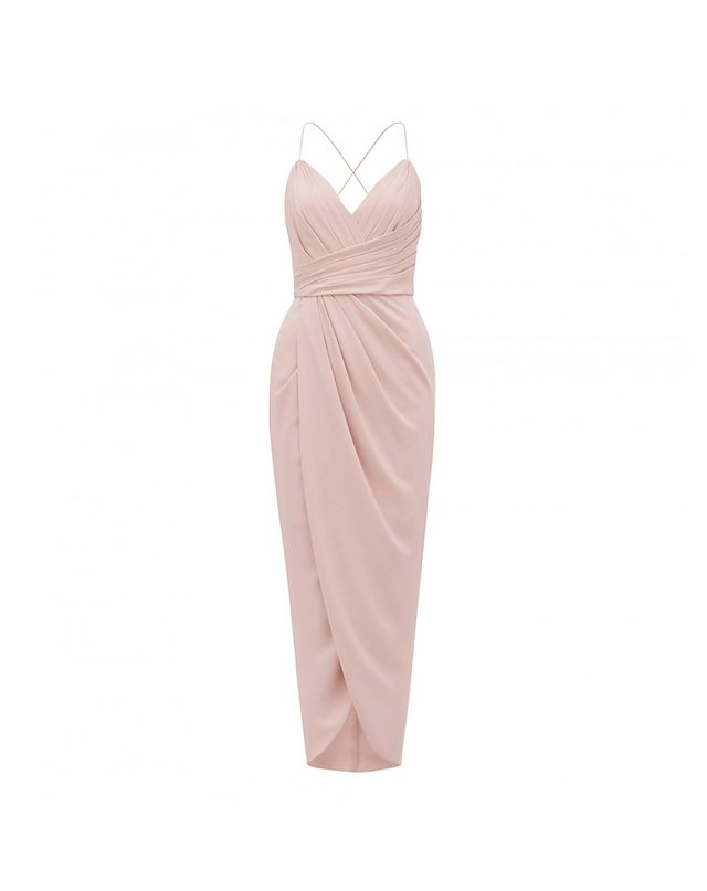 What to Wear When the Wedding Dress Code Is Cocktail Forever New Charlotte Drape Maxi Dress
