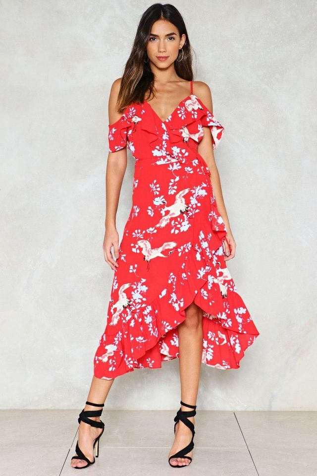 Nasty Gal Point Me At the Sky Floral Dress