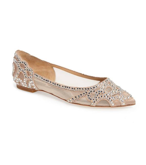 Gigi Crystal Pointy Toe Flat