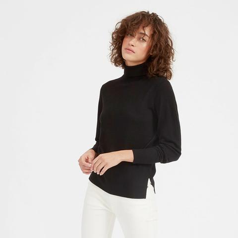 Luxe Wool High Rib Turtleneck Sweater