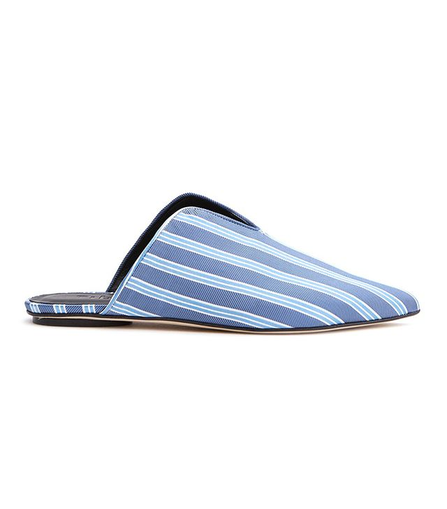 Tibi Cacey Stripe Slides