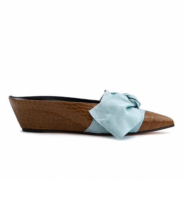 Adrien Tie Slide in Olive