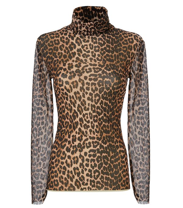 Tilden Leopard Mesh Turtleneck