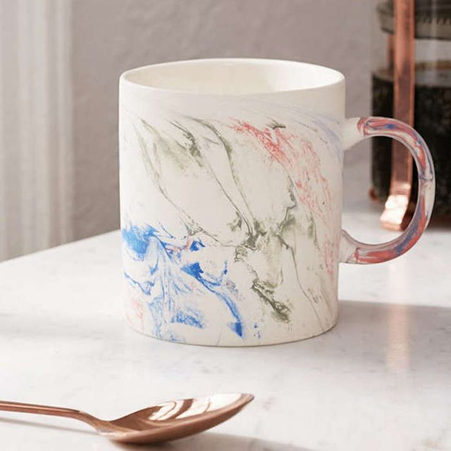 Rainbow Marble Mug - Multi One Size at Urban Outfitters