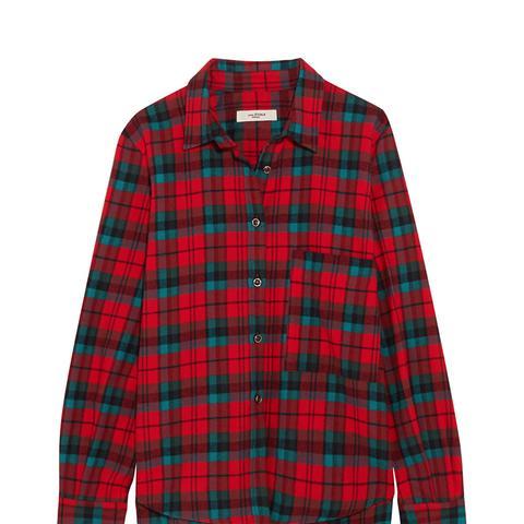 Cazora Plaid Brushed-Cotton Shirt
