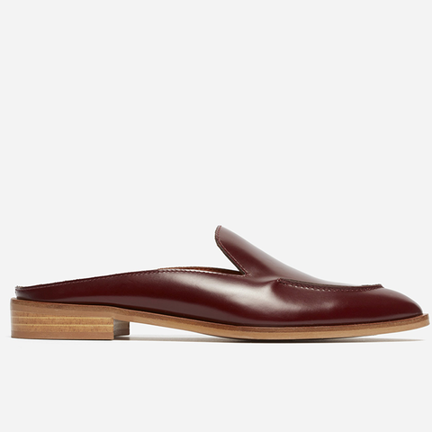 Loafers Mule in Oxblood