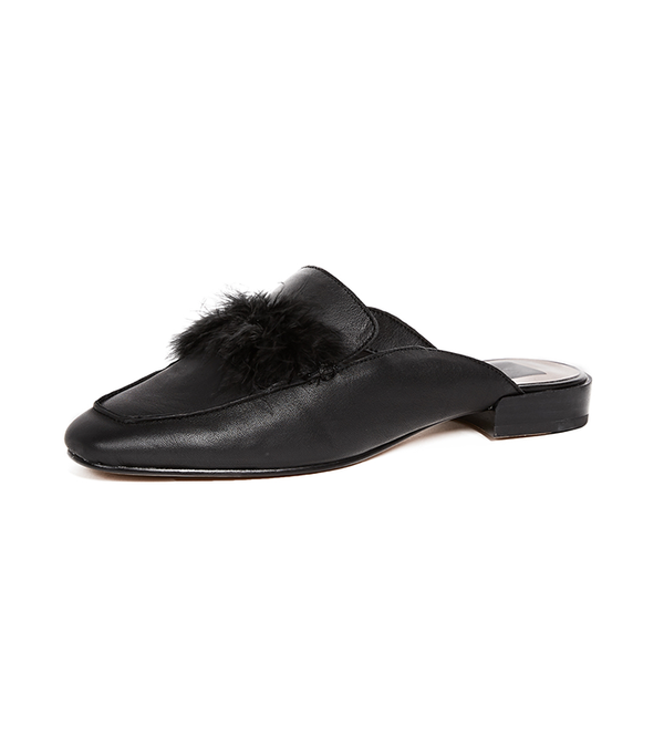Maura Flat Feather Mules