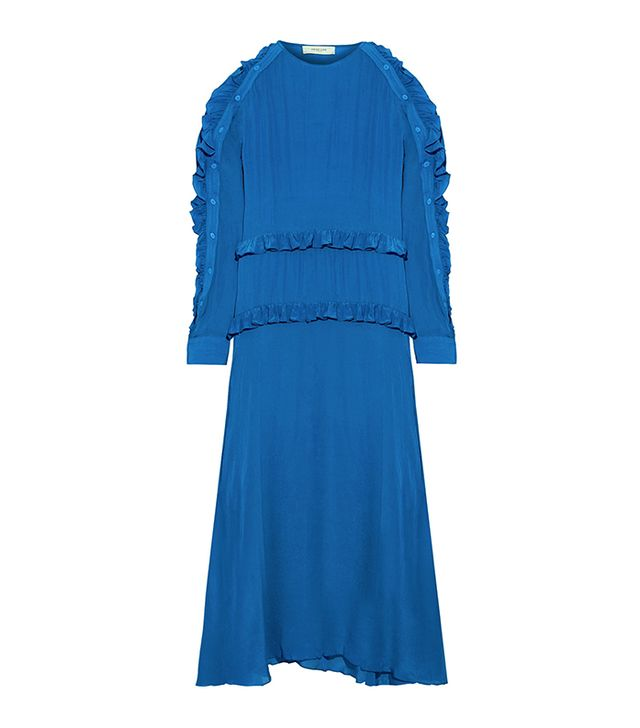Amata Ruffle-trimmed Crepe Midi Dress