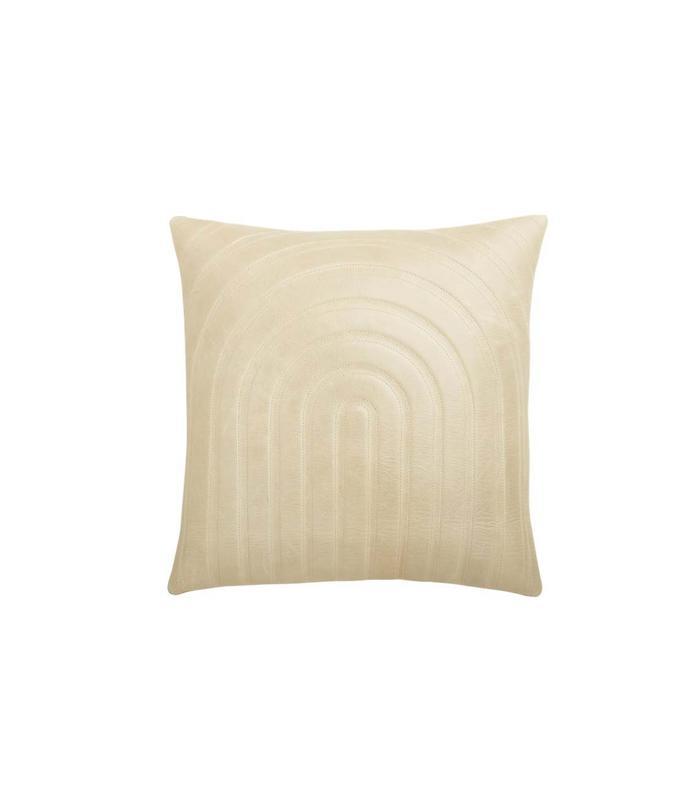Pinterest Cb2 Channel Beige Leather Pillow