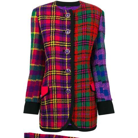 Tartan Boucle Skirt Suit