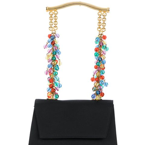Beaded Strap Evening Tote