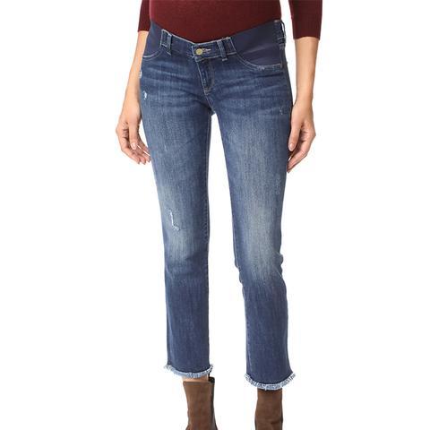 Mara Maternity Straight Cropped Jeans