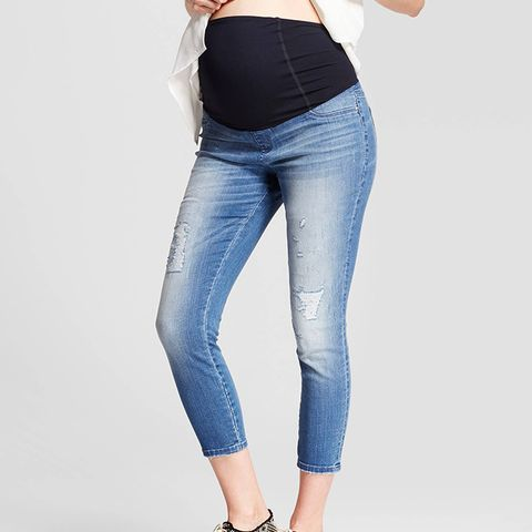 Maternity Crossover Panel Crop Jeggings