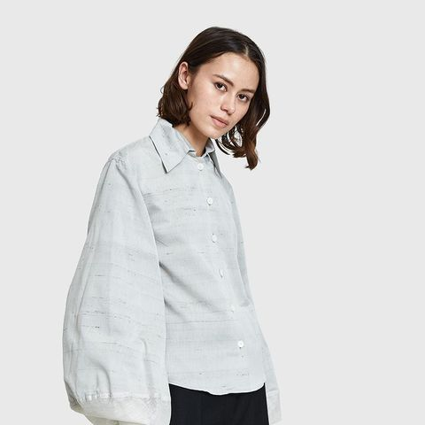 Large Sleeve Shirt in Pearl Grey