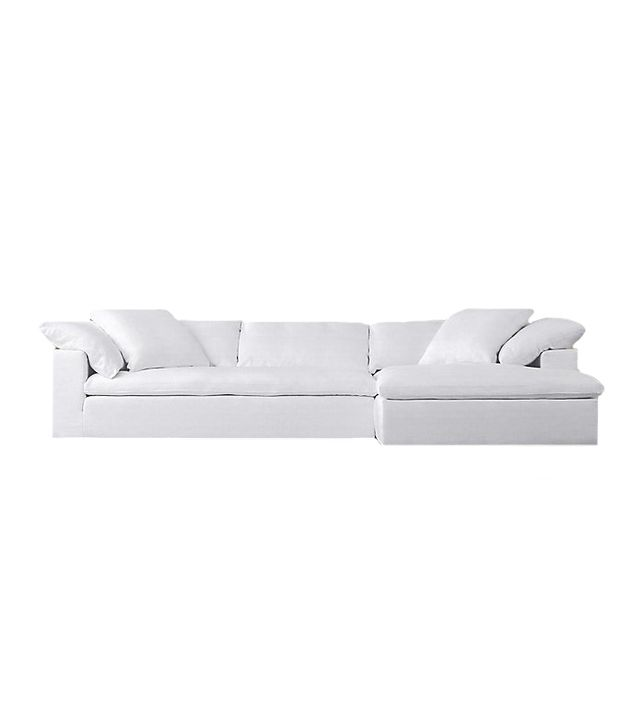 Restoration Hardware Cloud Track Arm Fabric Sectional