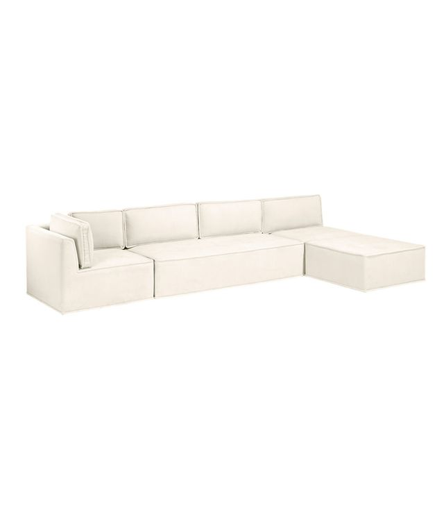 Grace Serpentine Three-Piece Sectional