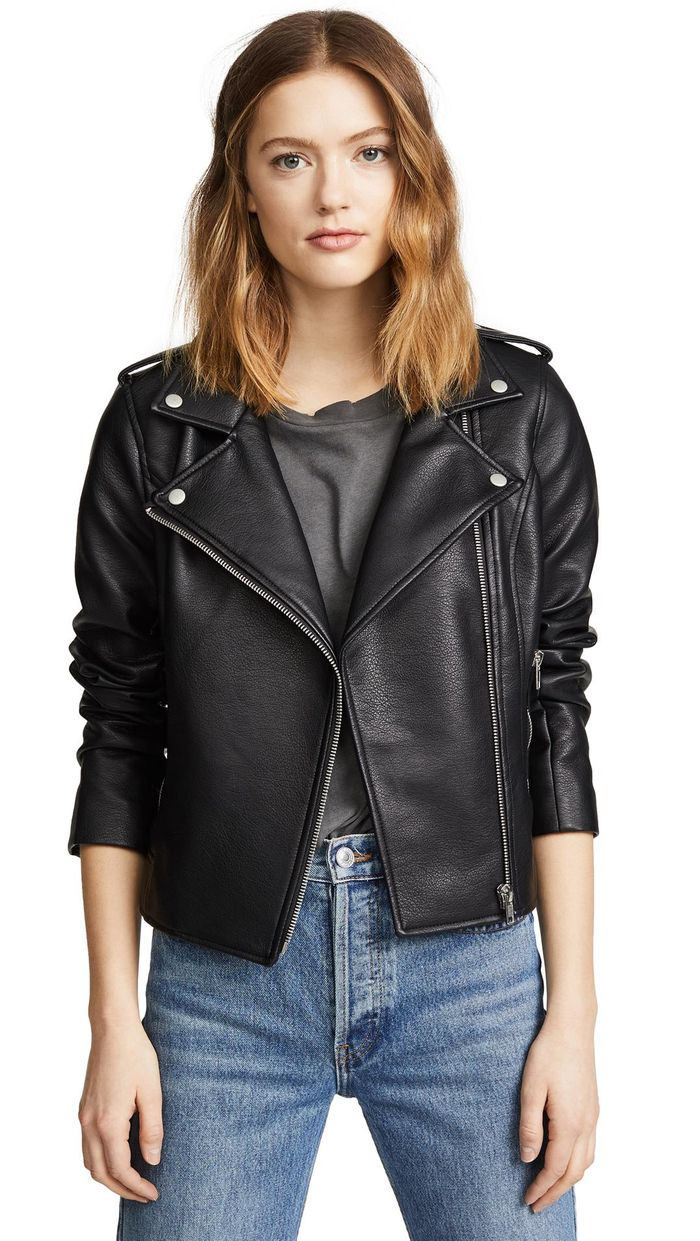 The Best Faux Leather Moto Jackets To Buy This Year Who