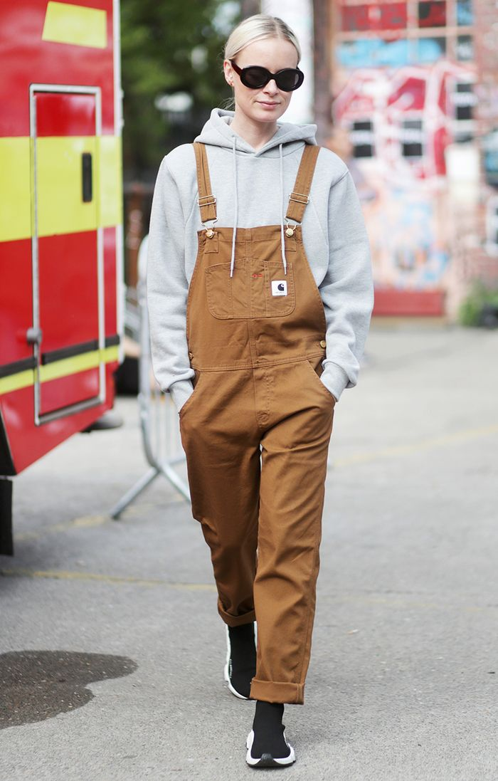 How To Wear Overalls In The Fall And Winter Who What Wear
