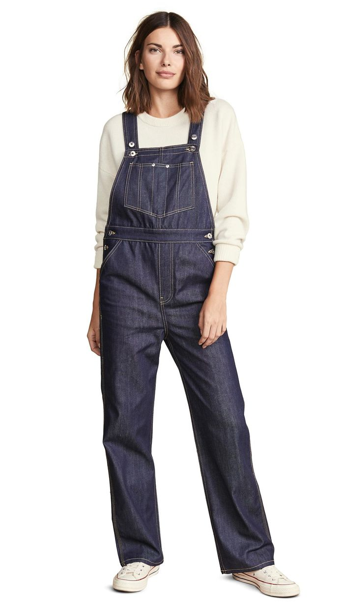 8c3e8cd313 How to Wear Overalls in the Fall and Winter   Who What Wear