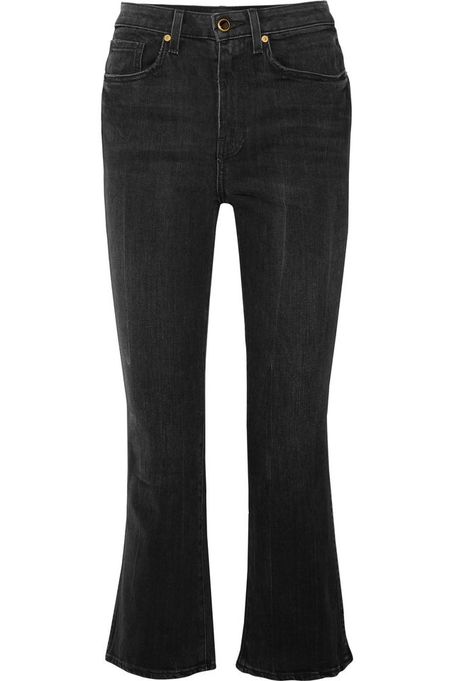 Benny Cropped High-rise Flared Jeans