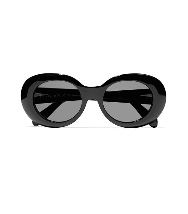 Mustang Oval-Frame Acetate Sunglasses