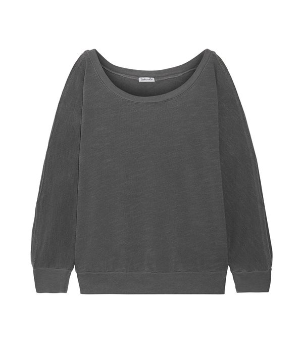 Pigment Cutout Cotton-jersey Sweatshirt