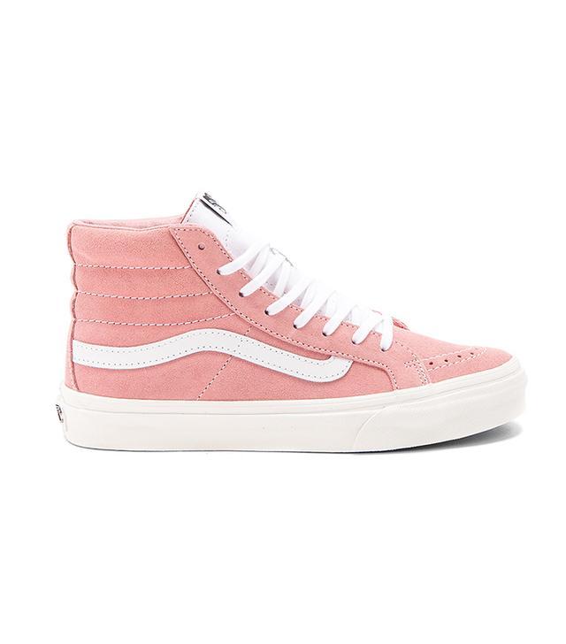 Retro Sport Sk8-Hi Slim Sneaker in Pink. - size 8.5 (also in 8,9.5)