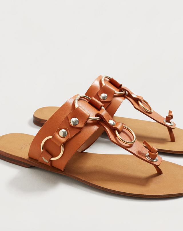 Mango Decorative appliqué sandals