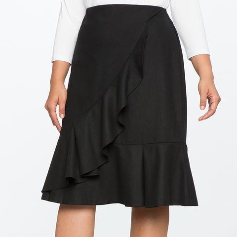 A-Line Skirt With Flounce
