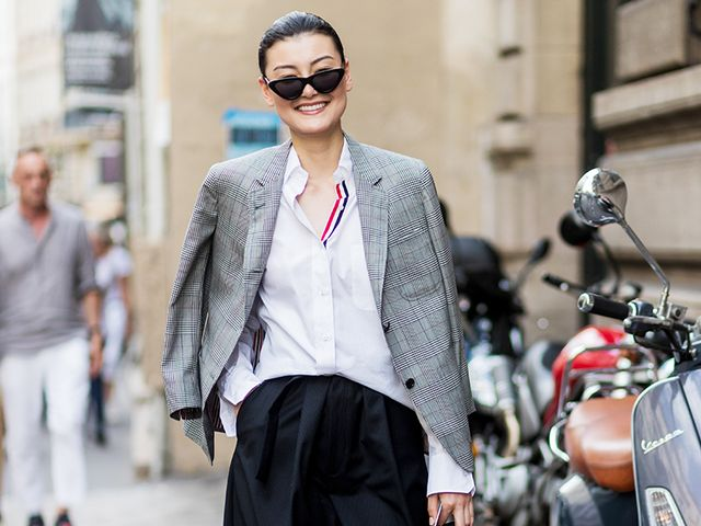 The Chicest Way To Wear Culottes In The Winter Who What Wear