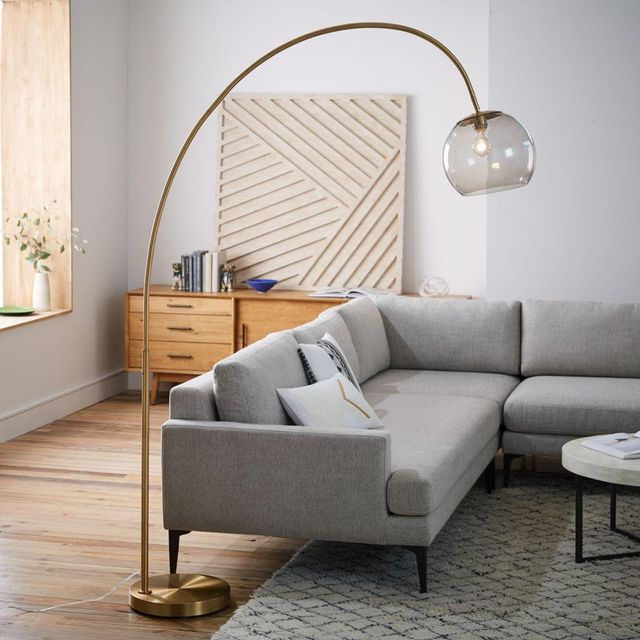 West Elm Overarching Acrylic Shade Floor Lamp
