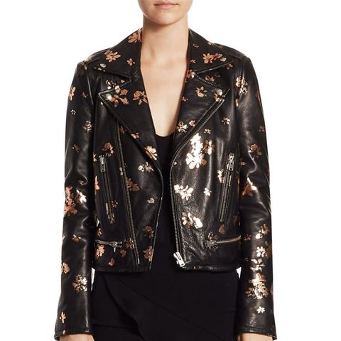 Phedra Painted Leather Jacket
